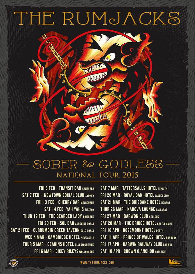the rumjacks sober godless tour 2015
